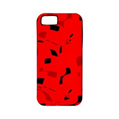 Red And Black Pattern Apple Iphone 5 Classic Hardshell Case (pc+silicone) by Valentinaart