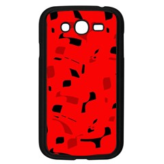 Red And Black Pattern Samsung Galaxy Grand Duos I9082 Case (black) by Valentinaart