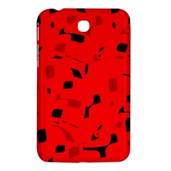 Red And Black Pattern Samsung Galaxy Tab 3 (7 ) P3200 Hardshell Case  by Valentinaart