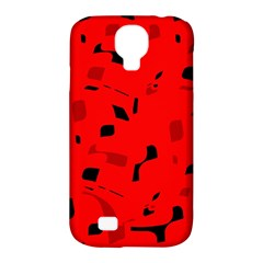 Red And Black Pattern Samsung Galaxy S4 Classic Hardshell Case (pc+silicone) by Valentinaart