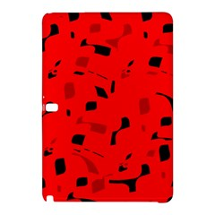 Red And Black Pattern Samsung Galaxy Tab Pro 10 1 Hardshell Case by Valentinaart