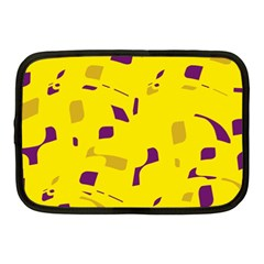 Yellow And Purple Pattern Netbook Case (medium)  by Valentinaart