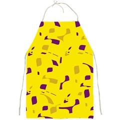 Yellow And Purple Pattern Full Print Aprons by Valentinaart