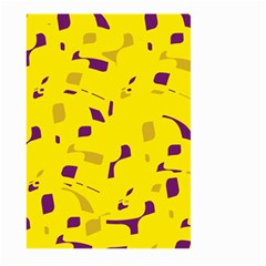 Yellow And Purple Pattern Large Garden Flag (two Sides) by Valentinaart