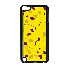 Yellow And Purple Pattern Apple Ipod Touch 5 Case (black)