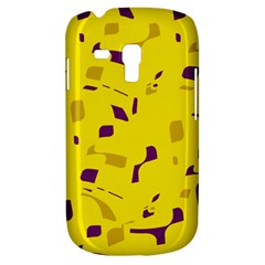 Yellow And Purple Pattern Samsung Galaxy S3 Mini I8190 Hardshell Case by Valentinaart