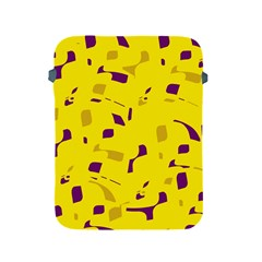 Yellow And Purple Pattern Apple Ipad 2/3/4 Protective Soft Cases by Valentinaart