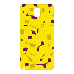 Yellow And Purple Pattern Samsung Galaxy Note 3 N9005 Hardshell Back Case by Valentinaart