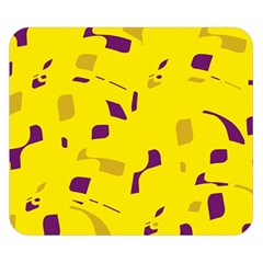 Yellow And Purple Pattern Double Sided Flano Blanket (small)  by Valentinaart