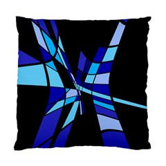 Blue Abstart Design Standard Cushion Case (two Sides) by Valentinaart