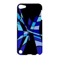 Blue Abstart Design Apple Ipod Touch 5 Hardshell Case by Valentinaart