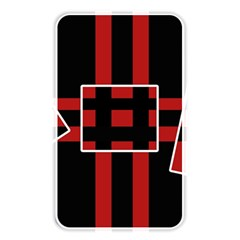 Red And Black Geometric Pattern Memory Card Reader by Valentinaart