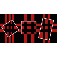 Red And Black Geometric Pattern You Are Invited 3d Greeting Card (8x4) by Valentinaart