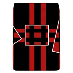 Red And Black Geometric Pattern Flap Covers (l)