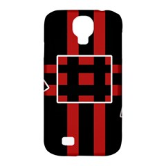 Red And Black Geometric Pattern Samsung Galaxy S4 Classic Hardshell Case (pc+silicone)