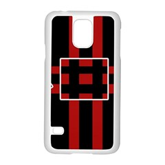 Red And Black Geometric Pattern Samsung Galaxy S5 Case (white) by Valentinaart