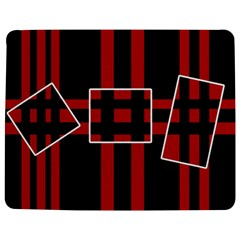 Red And Black Geometric Pattern Jigsaw Puzzle Photo Stand (rectangular) by Valentinaart