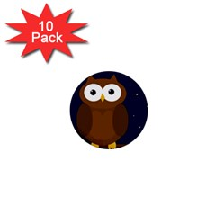 Cute Owl 1  Mini Buttons (10 Pack)  by Valentinaart