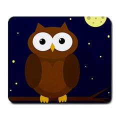 Cute Owl Large Mousepads by Valentinaart