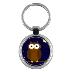 Cute Owl Key Chains (round)  by Valentinaart