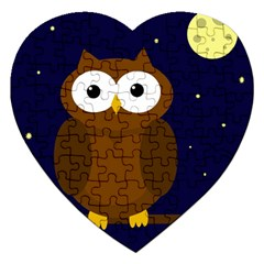 Cute Owl Jigsaw Puzzle (heart) by Valentinaart