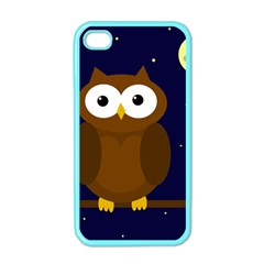 Cute Owl Apple Iphone 4 Case (color) by Valentinaart