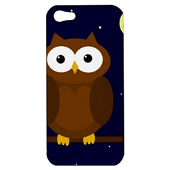 Cute Owl Apple Iphone 5 Hardshell Case by Valentinaart