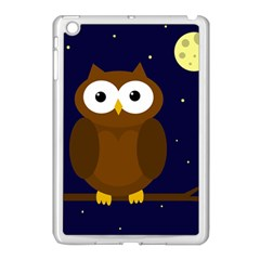 Cute Owl Apple Ipad Mini Case (white) by Valentinaart