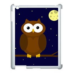 Cute Owl Apple Ipad 3/4 Case (white) by Valentinaart