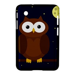 Cute Owl Samsung Galaxy Tab 2 (7 ) P3100 Hardshell Case  by Valentinaart