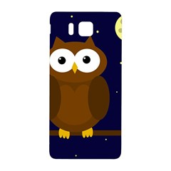 Cute Owl Samsung Galaxy Alpha Hardshell Back Case by Valentinaart