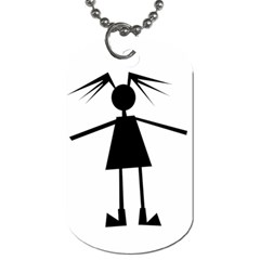 Teenage Girl Dog Tag (two Sides) by Valentinaart