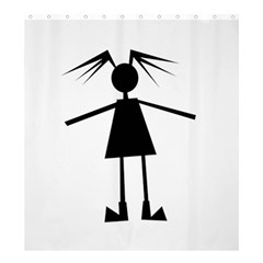 Teenage Girl Shower Curtain 66  X 72  (large)  by Valentinaart