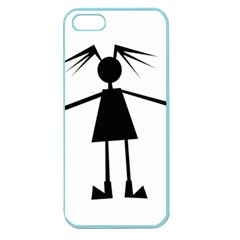 Teenage Girl Apple Seamless Iphone 5 Case (color) by Valentinaart