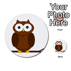 Cute Transparent Brown Owl Multi Purpose Cards (round)  by Valentinaart