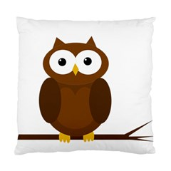 Cute Transparent Brown Owl Standard Cushion Case (two Sides) by Valentinaart