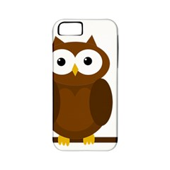 Cute Transparent Brown Owl Apple Iphone 5 Classic Hardshell Case (pc+silicone) by Valentinaart