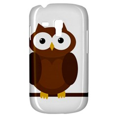 Cute Transparent Brown Owl Samsung Galaxy S3 Mini I8190 Hardshell Case by Valentinaart