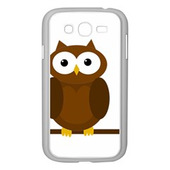 Cute Transparent Brown Owl Samsung Galaxy Grand Duos I9082 Case (white) by Valentinaart