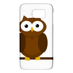 Cute Transparent Brown Owl Galaxy S6 by Valentinaart