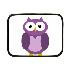 Purple Transparetn Owl Netbook Case (small)  by Valentinaart