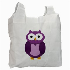 Purple Transparetn Owl Recycle Bag (two Side)