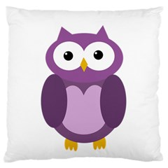Purple Transparetn Owl Large Cushion Case (one Side) by Valentinaart