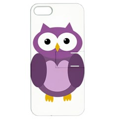 Purple Transparetn Owl Apple Iphone 5 Hardshell Case With Stand by Valentinaart
