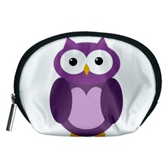 Purple Transparetn Owl Accessory Pouches (medium)  by Valentinaart
