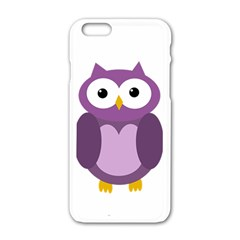 Purple Transparetn Owl Apple Iphone 6/6s White Enamel Case