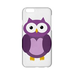 Purple Transparetn Owl Apple Iphone 6/6s Hardshell Case