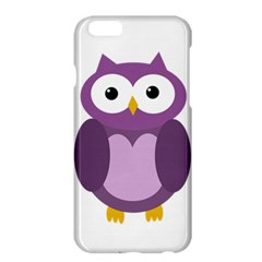 Purple Transparetn Owl Apple Iphone 6 Plus/6s Plus Hardshell Case