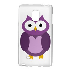 Purple Transparetn Owl Galaxy Note Edge