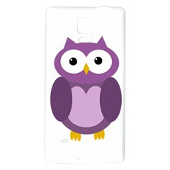 Purple Transparetn Owl Galaxy Note 4 Back Case